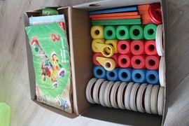 Holzspielzeug - Baufix Baukasten inkusice Werkzeugkorb kombinierbar