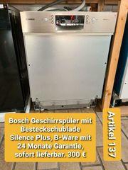 Bosch Geschirrspüler mit Besteckschublade Silence