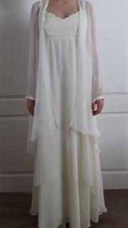 Hochzeitskleid 3 teilig chiffon champagner