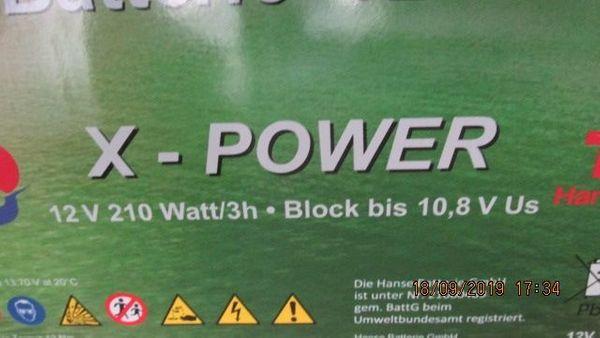 AGM-Akku Batterie 12-210 OGiV X-POWER