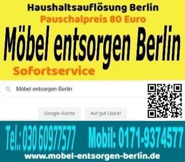 Möbel entsorgen Berlin ab 80