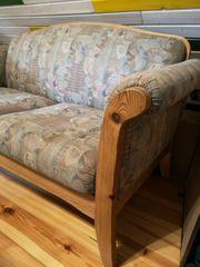Sofa 2-Sitzer mit Sofastretchbezug grau