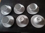 Espressotassen mit Untertasse