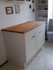 IKEA Küchenunterschrank FAKTUM mit Buche-Massivholz-Arbeitsplatte