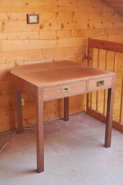 Mahagoni-Tisch maritim 4 Schubladen mit