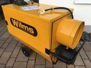 Hallenheizung Werkstattheizung Bauheizung Zeltheizung Wilms