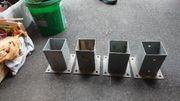 4 Stück Pfostenschuh Aufschraubhülse Pfostenträger