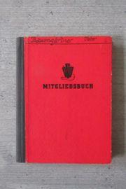 ÖGB Mitgliedsbuch 1952