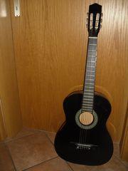 Gitarre schwarz ca 1m lang