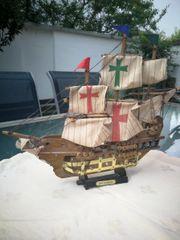 Modellschiff Holz Santa Maria