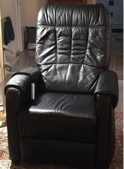 Komfort- Ledersessel mit Liegefunktion und
