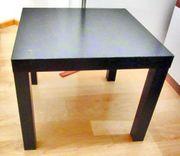 Ikea Tisch Lack schwarz Beistelltisch