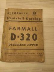 Ersatzteilliste Farmall D - 320