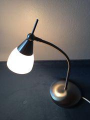 Tischlampe Chrom Milchglas