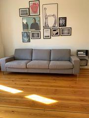 Original Sallier Sofa Couch grau