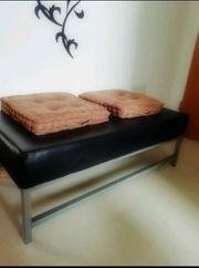 Sitzbank aus Lederimitat schwarz