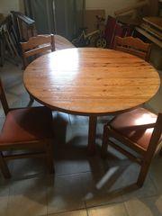 Vollholz Küchentisch mit Stühlen