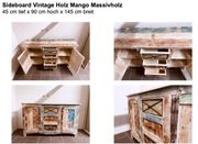Sideboard Vintage Mango Massivholz