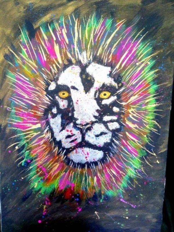 Löwe abstrakt direkt vom Künstler