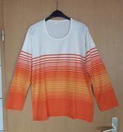 Pullover orange weiß neu Größe