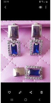 Ohrringe und Anhänger Silber