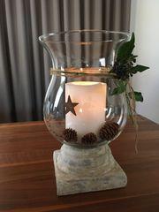 Windlicht Keramik Glas