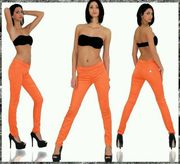 Leggins Jeggins in Blau Orange
