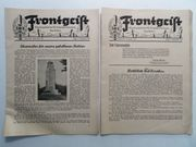 2 Hefte Frontgeist Mitteilungsblatt Kriegsopferversorgung