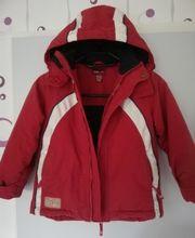 Kinderskiausrüstung Skihose Skijacke Skianzug rot