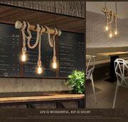 Lampe - Retro Hemp Bambus Lampe