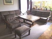 Sofa Sofagarnitur Sessel mit Hocker