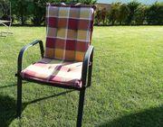 6 Gartenstühle mit Auflage