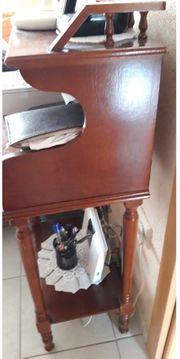 Telefon Kommode Beistelltisch Nussbaum Antik