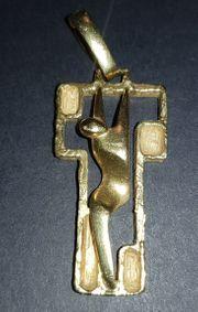 Kreuz Anhänger 750er Gold