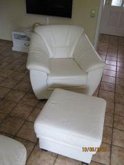 Sessel und Hocker Rindsleder Softlux