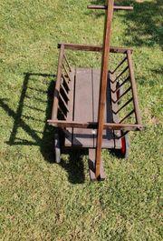 Leiterwagen Holz alter groß Sammlerstück