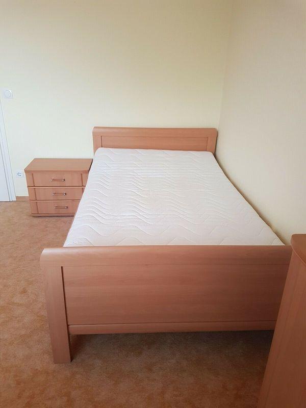 Einzelbett buche Liegefläche 120x200 cm