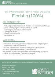Floristin 100 gesucht