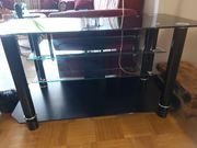 TV-Tisch schwarz Glas