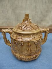 Bowle aus Keramik mit sechs