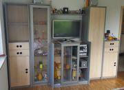 Kinder- Jugendzimmer-Möbel Grau Ahorn 10-teilig