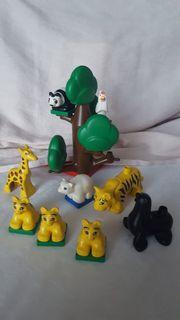 Duplo Lego Tiere mit Baum