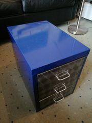 Containe blau-metallic 3 Schubladen