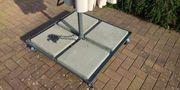 Sonnenschirmständer Ampelschirm -Träger mobil schwer Stahl