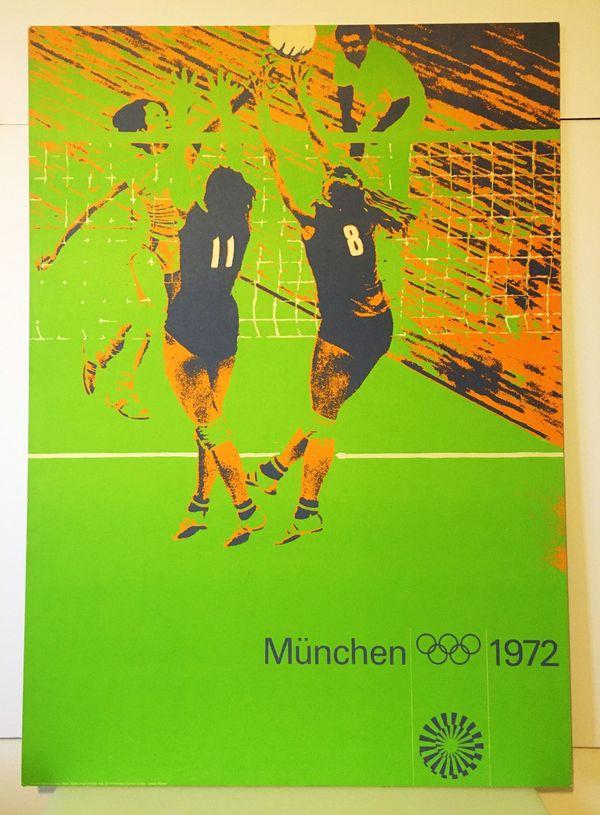 München 72 Plakat Volleyball