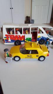 Playmobil Omnibus mit Fahrgästen Haltestelle