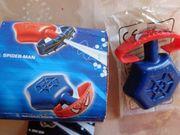 Spielzeug Spider-Man-Spritzring klein blau rot