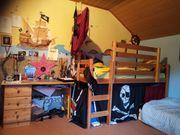 Hochbett Rutsche Schreibtisch und Bettwäsche