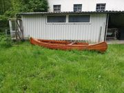 Holzkanadier Holz Kanu Oldtimer