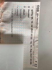 Öffentliche Verkehrmittel Ticket